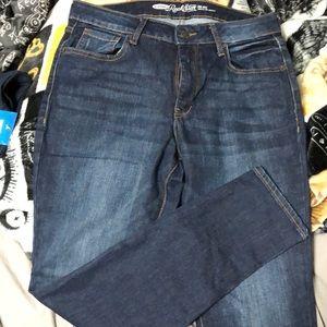 Old navy skinny jeans rockstar mid rise cut